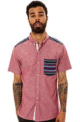 The Lexington Short Sleeve Buttondown in Red