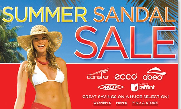 Our Summer Sandal Sale starts today! Save on a huge selection of sandals for women and men from Dansko, ECCO, Umberto Raffini and more of the best comfort brands. Find the best selection of styles when you shop online and in-stores at The Walking Company.