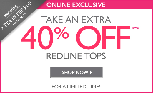 40% Off Select Redline Tops