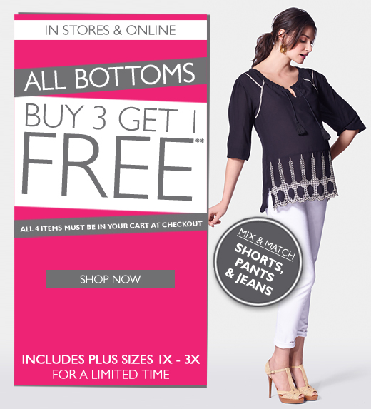Bottoms: Buy3 Get 1 Free