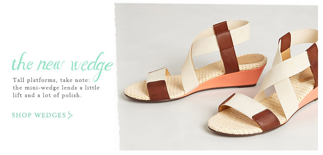 Shop wedges.