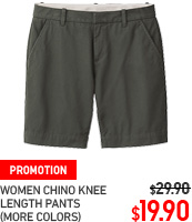 WOMEN CHINO KNEE LENGTH SHORTS