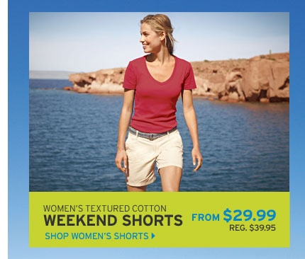 "Textured Cotton 7"" Weekend Shorts"