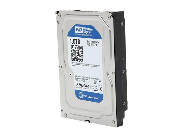 Western Digital WD Blue WD10EZEX 1TB 7200 RPM 64MB Cache SATA 6.0Gb/s 3.5 inch Internal Hard Drive - OEM