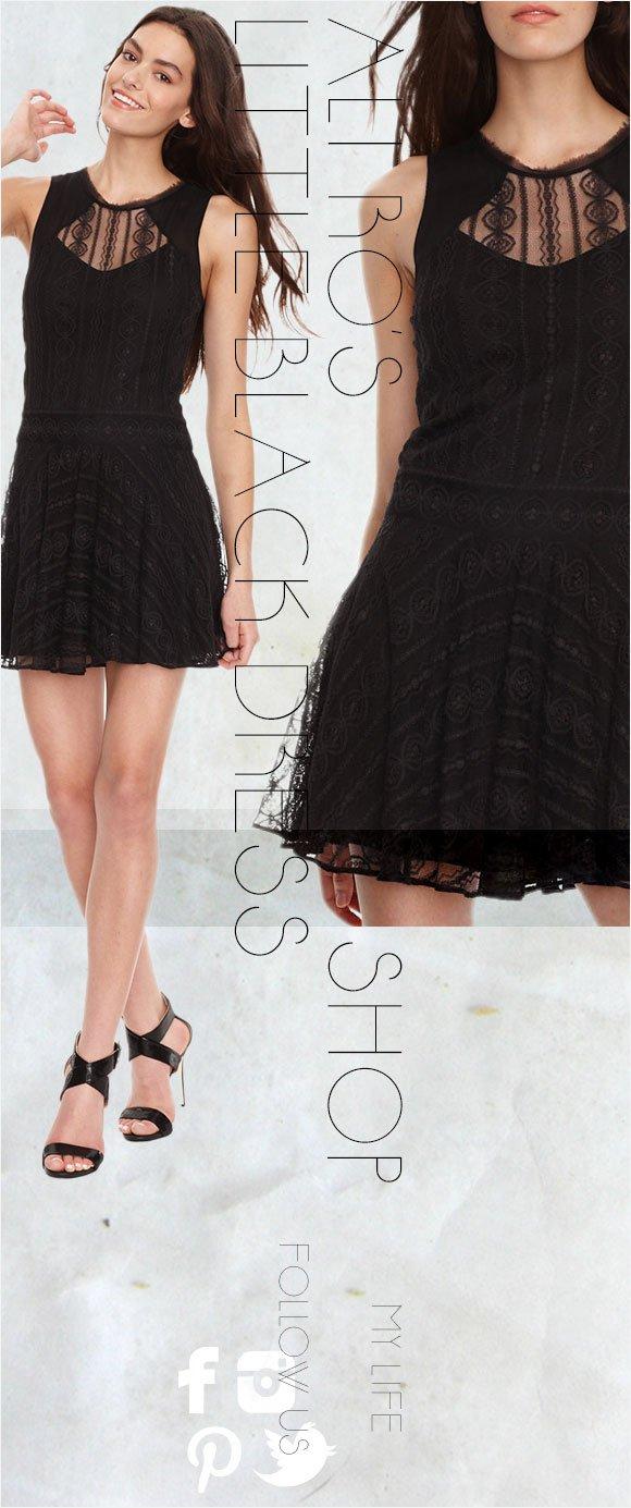 Ali Ro's Little Black Lace Dress