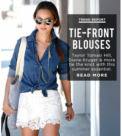 Fall In Love With Summer's Most Stylish Tie-Front Tops