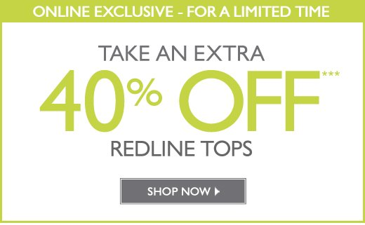 40% Off Redline Tops