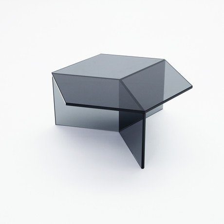 Isom Glass Table // Grey