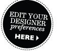 Edit your designer preferences