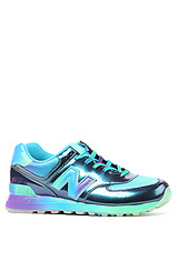 The Rainbow 574 Sneaker in Blue & Green