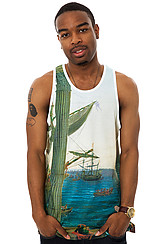 The Alexandria Tank Top in Bleach White