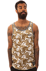 The Splatter Camo Allover Tank in Khaki