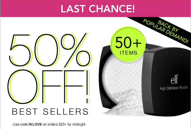 Back by Popular Demand - 50% OFF Best Sellers - Shop Now