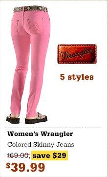 Wrangler Colored Skinny Jeans