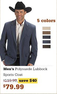 Polysuede Lubbock Sport Coat