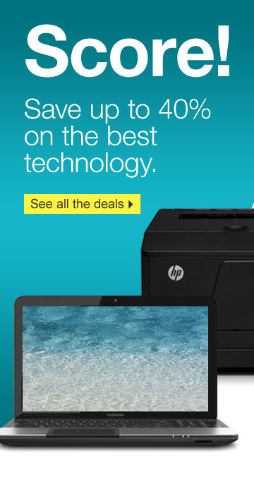 Score!  Save up to 40% on the best technology. See all the deals.