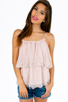 NEVER ENOUGH RUFFS RUFFLED CAMI 29