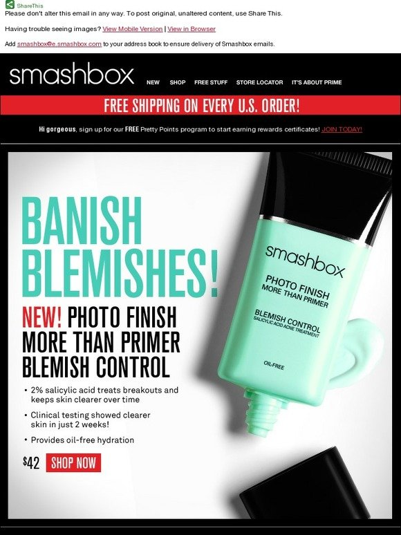 Smashbox New Blemish Control Primer Milled