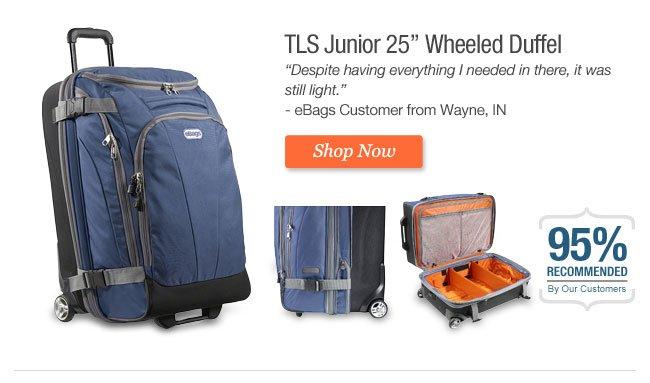 """TLS Junior 25"""" Wheeled Duffel"""