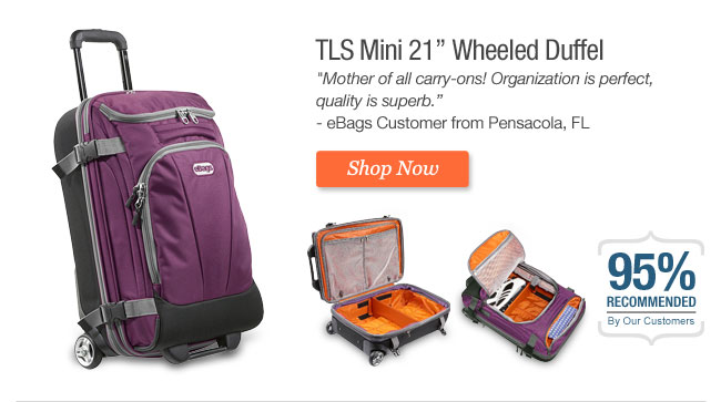 "TLS Mini 21"" Wheeled Duffel. Shop Now"