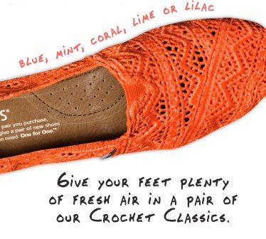 Give your feet plenty of fresh air in a pair of our crochet classics
