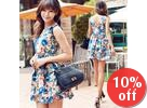 Floral-Print Sleeveless Minidress