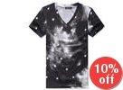 Star-Print V-Neck T-Shirt