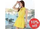Sleeveless Shirtwaist A-Line Minidress