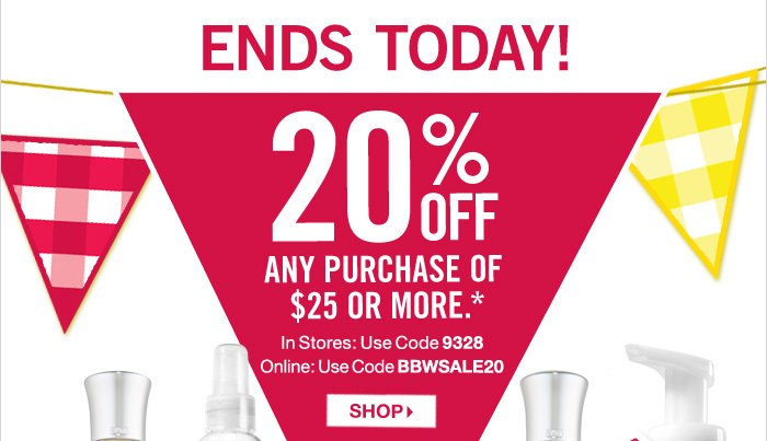 20% Off Any Purchase of $25 or More*