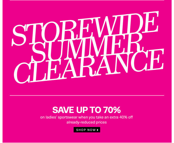 Shop the Storewide Summer Clearance