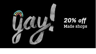 20% off MADE shops
