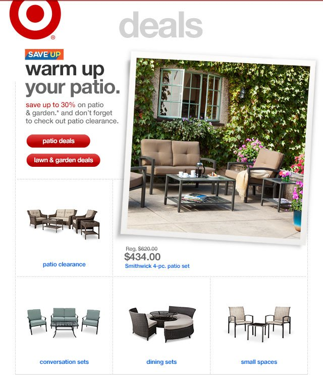 Save up. WARM UP YOUR PATIO.