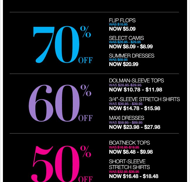 Starting Tomorrow: EVERYTHING UP TO 80% OFF! Shop the BIG BIG sale!
