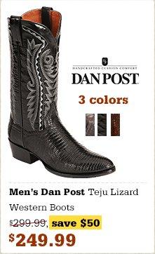 Dan Post Teju Lizard Western Boots