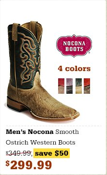 Nocona Smooth Ostrich Western Boots