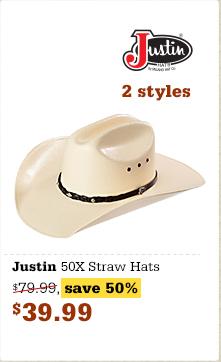 Justin 50X straws