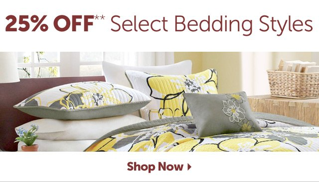 25% OFF Select Bedding Styles