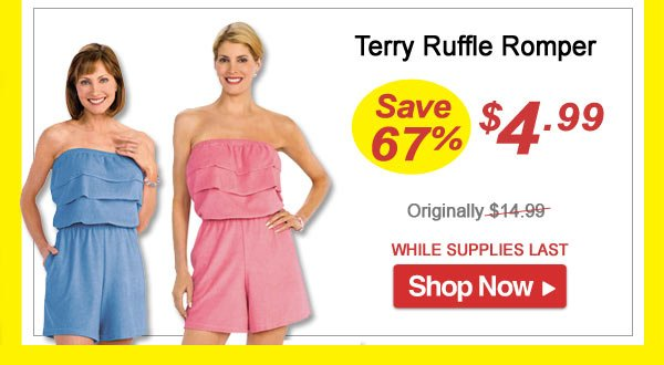 Ruffle Romper - Save 67% - Now Only $4.99 Limited Time Offer