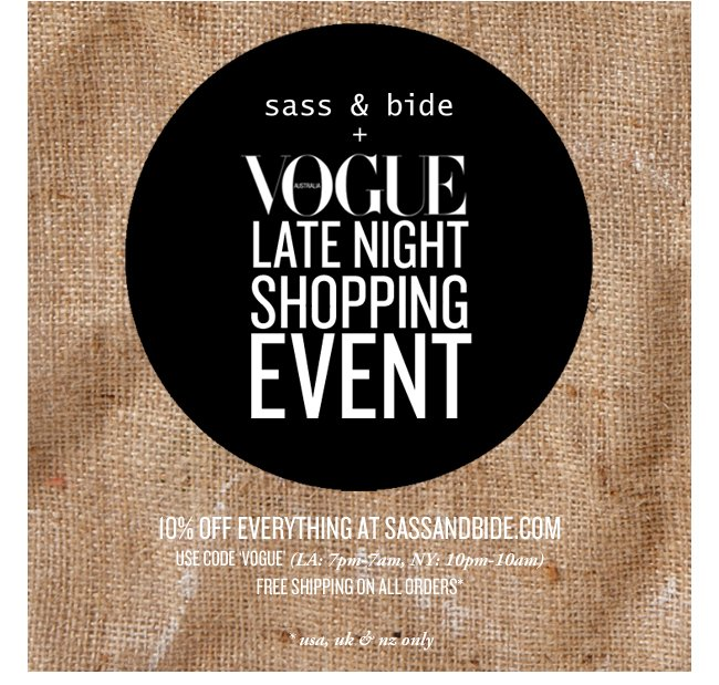 vogue online shopping event