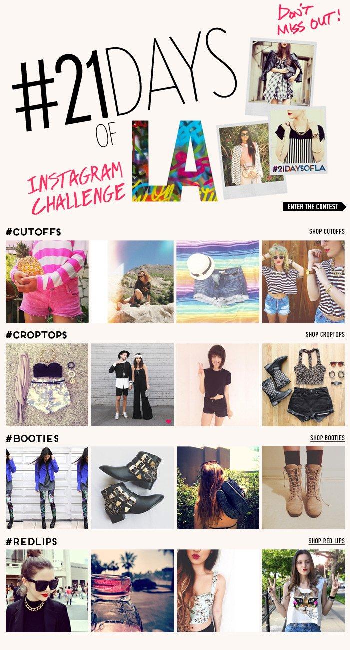 21 Days of Instagram Challenge! - Shop Now