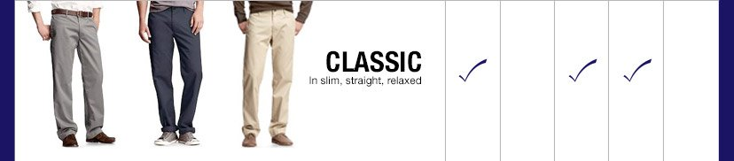 CLASSIC | In slim, straight, relaxed