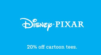 20% off cartoon tees