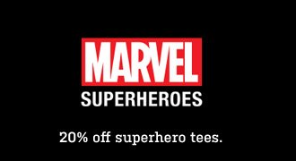 20% off Marvel Superheroes