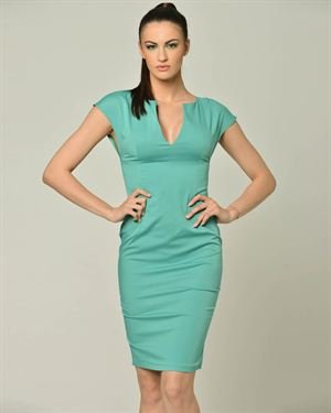 Carla Giannini Solid Color Dress Made In Italy
