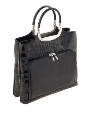 Ore10 Crocodile Pattern Tote Made In Italy