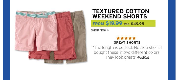 Textured Cotton Weekend Roll Shorts