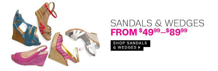 shop sandals and wedges