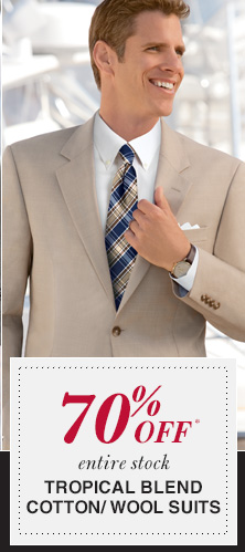 70% Off* Tropical Blend Cotton/Wool Suits