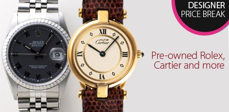 Preowned Rolex, Cartier and more