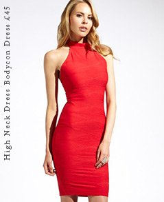 High Neck Dress Bodycon Dress